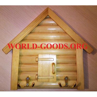 Ключница настенная деревянная домик