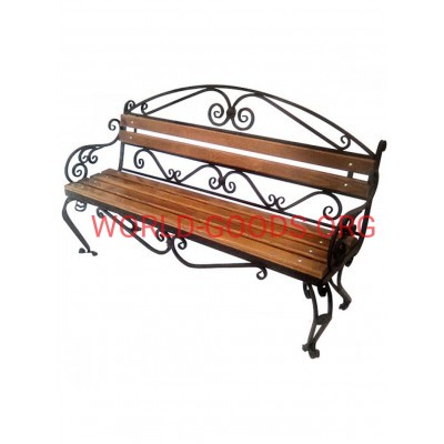 Садовая скамейка металлическая кованая Верона 1,5 метра спинка, world-goods.ru