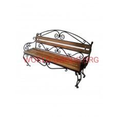 Садовая скамейка металлическая кованая Верона 2 метра спинка