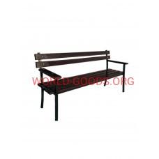 Скамейка ДМ-2 метра спинка подлокотник