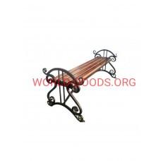 Скамейка кованая Арфа 1,5 метра