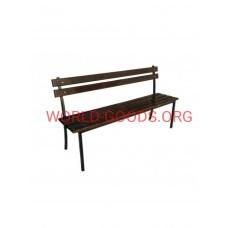 Скамейка кованая ДМ 1,5-2 метра, спинка, подлокотник