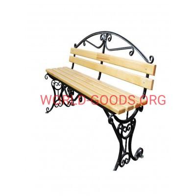 Скамейка кованая Валенсия 1.5 метра спинка, world-goods.ru