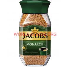 Кофе,  Jacobs Monarch, растворимый сублимированный стеклянная банка 190гр