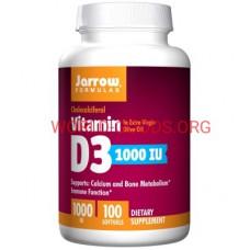 Д3 1000 МЕ 100 гелевых капсул  Jarrow Formulas Витамин