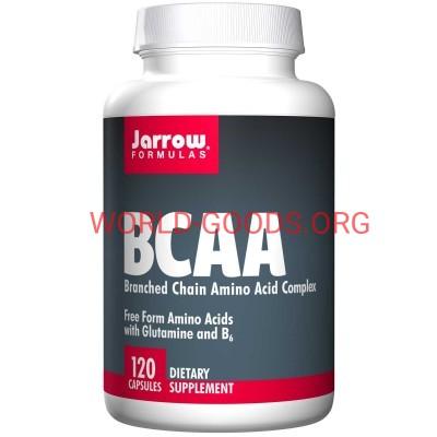 BCAA, БСА, аминокислотный комплекс ,120 капсул, Витамины, Jarrow Formulas