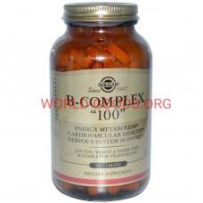 Солгар, B-Complex 100, растительные, 250 шт.