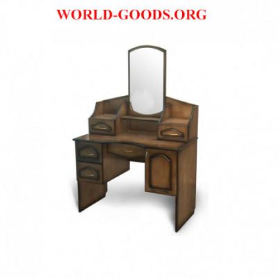 Стол, макияжный, квадратное зеркало, 101, деревянный