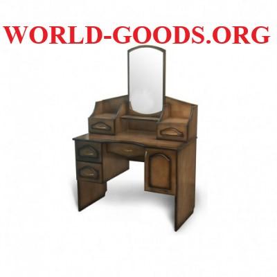 Стол деревянный макияжный с ящиками квадратное зеркало