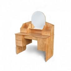 Стол, макияжный, круглое зеркало, деревянный