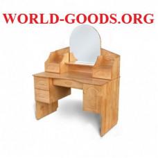Стол деревянный макияжный круглое зеркало