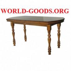 Стол Прямоугольный деревянный закругленный обеденный четыре ножки