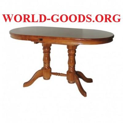 Стол Овальный деревянный обеденный на двух ножках
