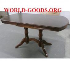 Стол Прямоугольный закругленный на двух опорах деревянный обеденный