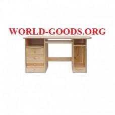 Стол Письменный деревянный компьютерный три ящика слева