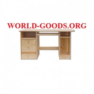Стол, письменный, деревянный, компьютерный, три ящика, слева