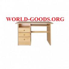Стол, Письменный, деревянный, три ящика, слева