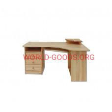 Стол, Письменный, угловой, компьютерный, три ящика слева