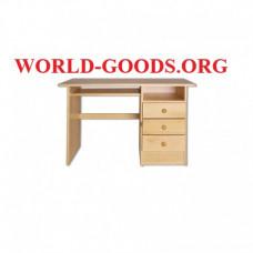 Стол Письменный деревянный три ящика справа