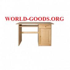Стол письменный деревянный большой ящик справа