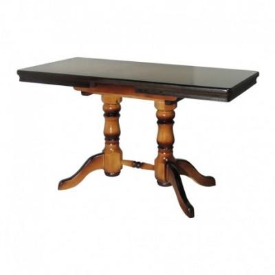 Стол, Прямоугольный, на двух балясинах, деревянный, обеденный